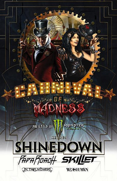 carnival poster - Interview- Brent Smith of Shinedown