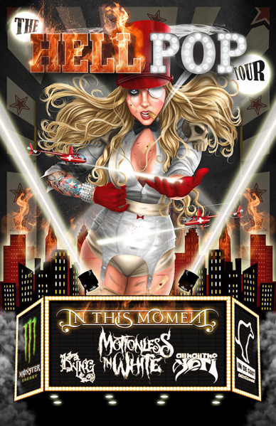 hellpop tour poster by age velez d6i21ap1 - Interview - Chris Howorth of In This Moment
