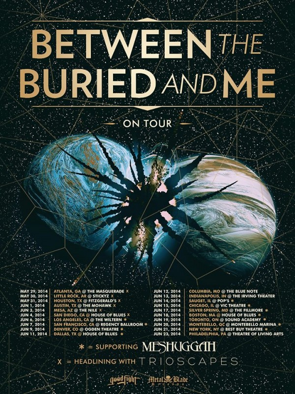 btbam may june tour 2014 600x800 - Interview - Paul Waggoner of Between the Buried and Me
