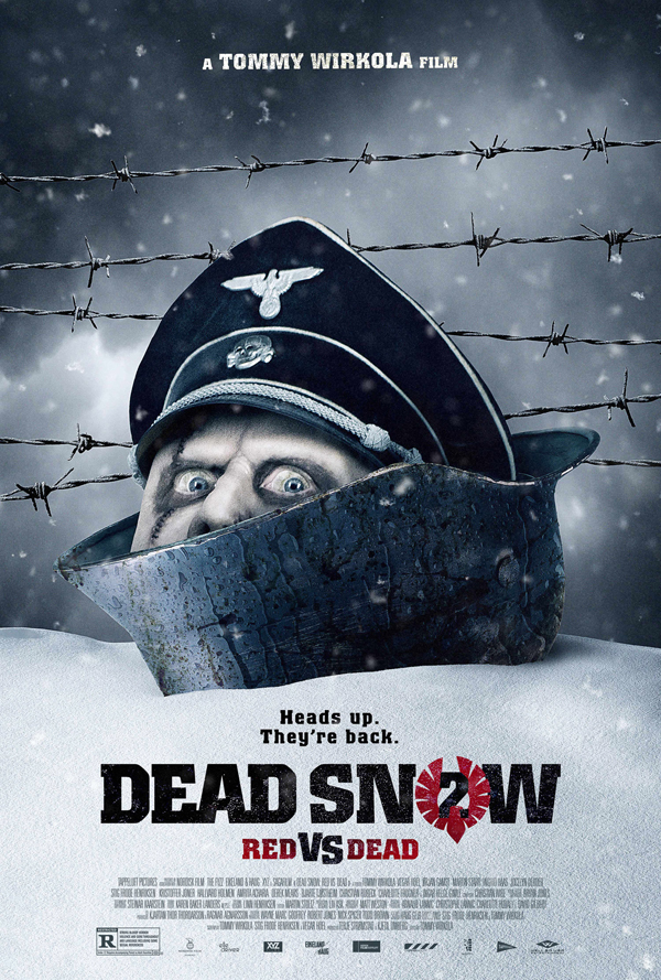 dead snow 2 red vs dead poster - CrypticRock Presents: Top 10 Horror Films of 2014