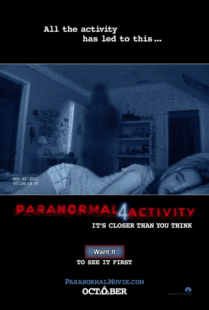 paranormal activity 4 poster01 691x1024 - Favorite Horror Movies Revealed: Justin Olmstead of Righteous Vendetta