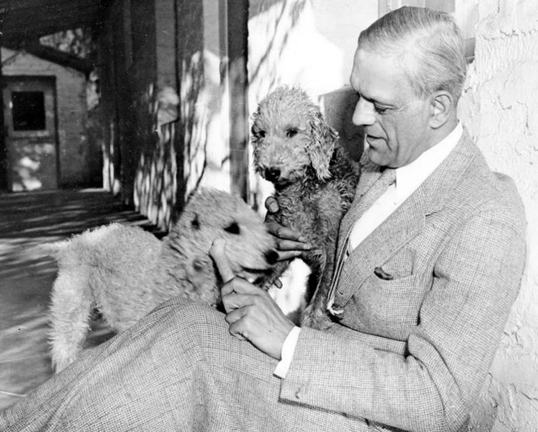 Boris Karloff spends some quality time with his Bedlington Terriers - Interview - Sara Karloff - Reflections on Boris Karloff