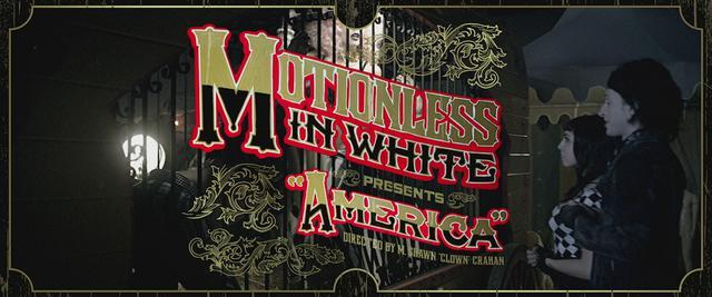 "E8FFB9F7C32E5DA533BE43E51656B9F4 - Motionless In White release video for ""America"""