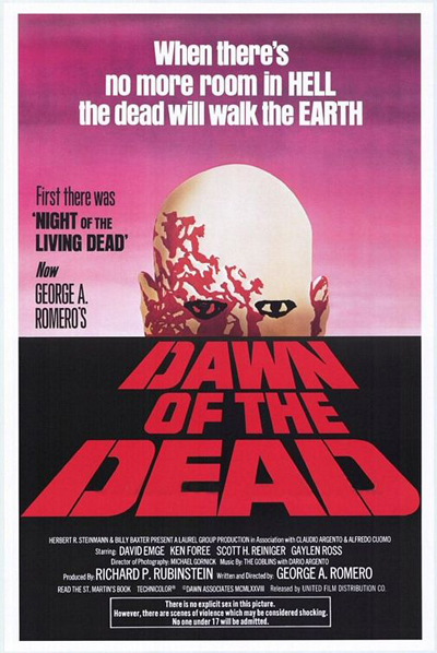 dawn of the dead 1978 poster - Favorite Horror Movies Revealed: Blake Allison of Devour the Day