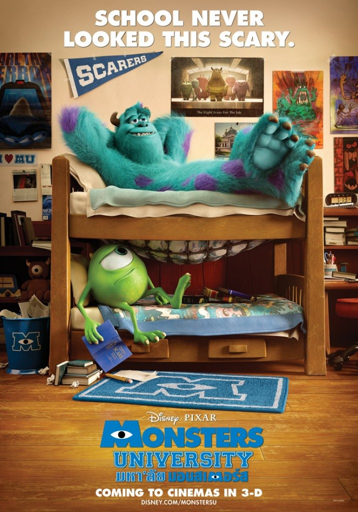 monsters university poster 1 716x1024 - Monsters University (Movie review)