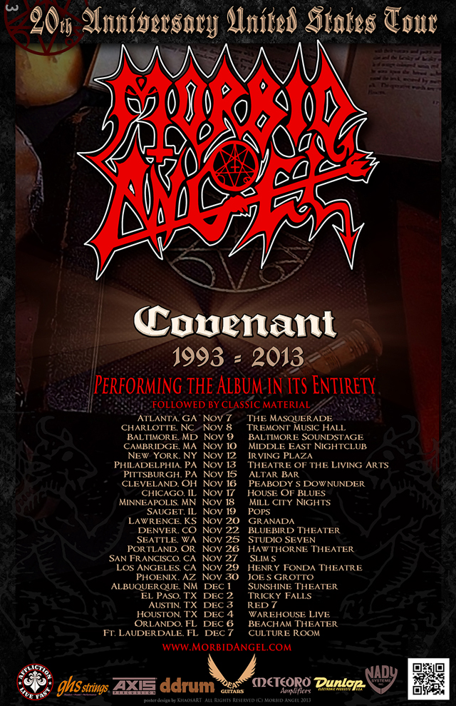 Covenant Tour Dates Nov 7 Dec 7 2013 - Interview - David Vincent of Morbid Angel