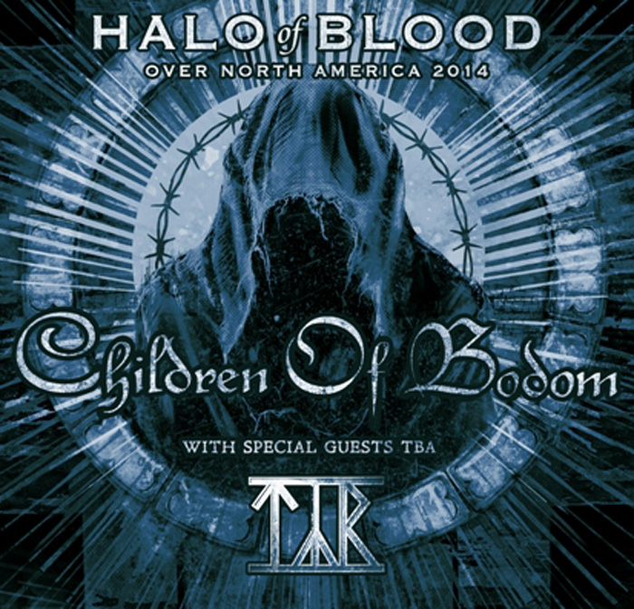 "3001 - Children of Bodom announce ""Halo Of Blood Over North America Tour"" with TYR"