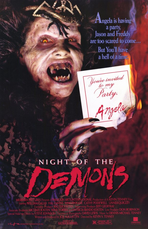 600full night of the demons poster - Interview - Horror Scream Queen Linnea Quigley
