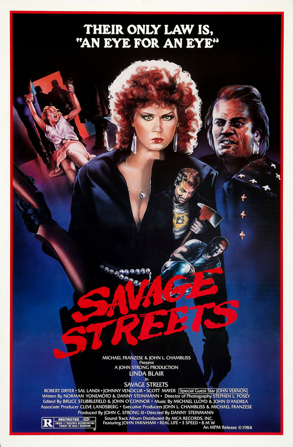 savage streets poster 01 - Interview - Horror Scream Queen Linnea Quigley