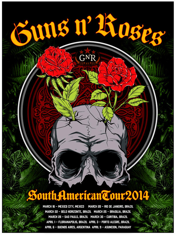 guns - GUNS N' ROSES GO TO HELL & HEAVEN FOR SOUTH AMERICA IN 2014