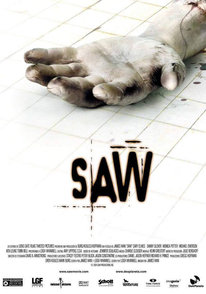 saw poster - Favorite Horror Movies Revealed: Justin Olmstead of Righteous Vendetta