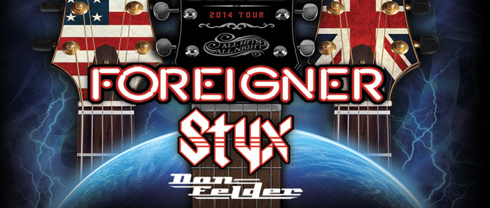 """BGforTour slide - STYX AND FOREIGNER, WITH VERY SPECIAL GUEST DON FELDER ANNOUNCE """"THE SOUNDTRACK OF SUMMER"""" TOUR"""