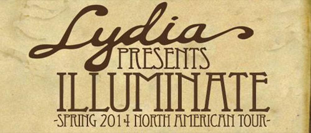 lydia tour slide -  Lydia announce Illuminate North American Tour