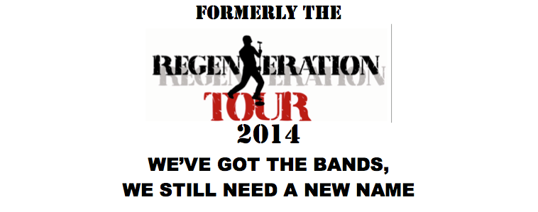 regeneration - Regeneration Tour 2014 lineup to feature Tom Bailey of Thompson Twin's