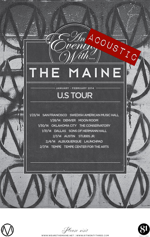 TheMaine AcousticEvening WEB1 - Interview - John O'Callaghan and Kennedy Brock of The Maine