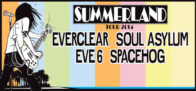 summerland 2014 poster banner - Soul Asylum Joins The Party On Summerland Tour 2014 with Everclear, Eve 6, & Spacehog