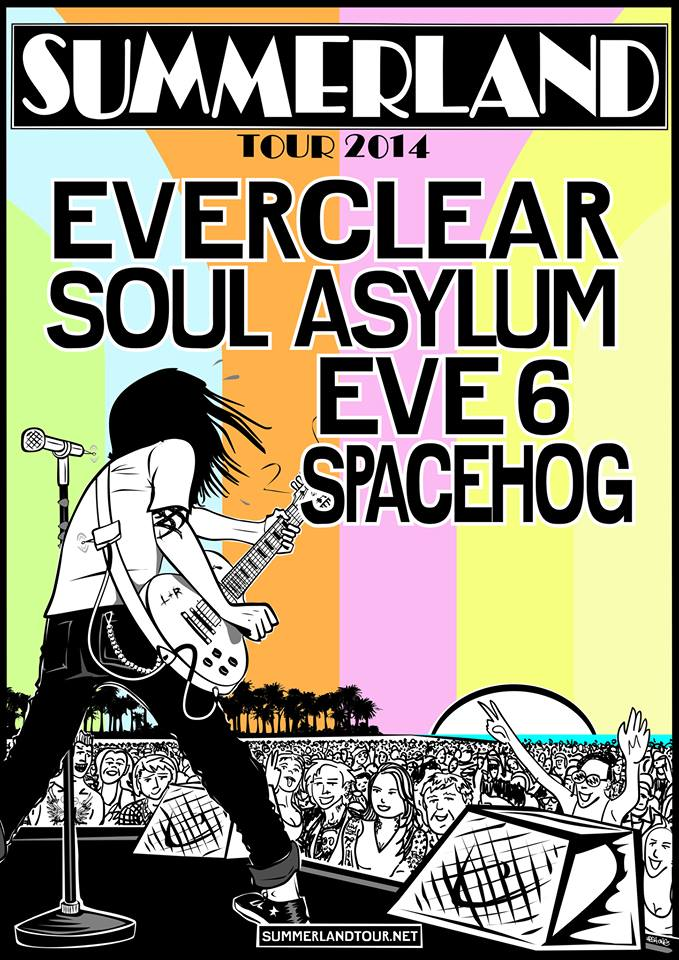 summerland tour 2014 poster - Soul Asylum Joins The Party On Summerland Tour 2014 with Everclear, Eve 6, & Spacehog