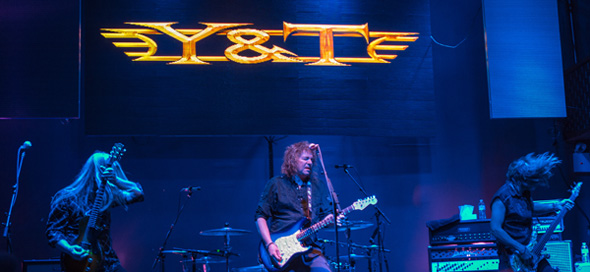 y and t slide - Y&T 40th Anniversary Celebration at Stage 48 NYC 4-5-14