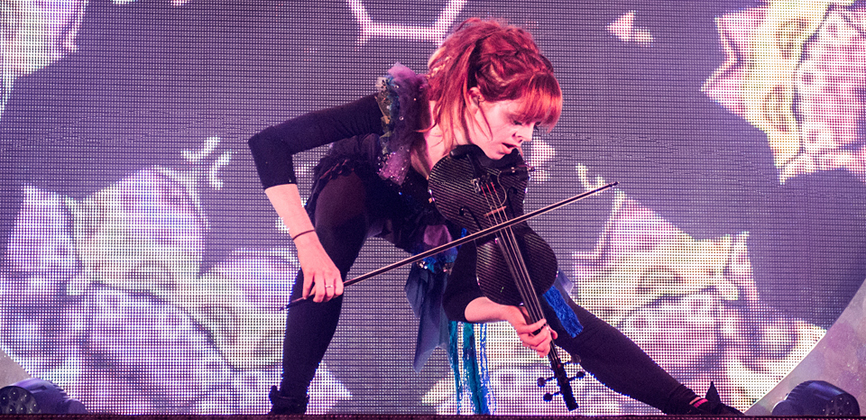 lindsey slide - Lindsey Stirling triumphs at The Space at Westbury, NY 6-21-14