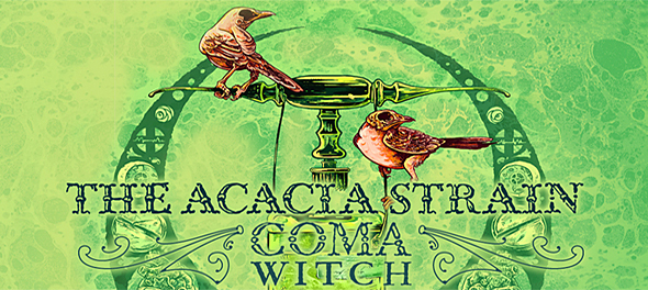 """The Acacia Strain Coma Witch Banner - The Acaia Strain release video for """"Cauterizer"""""""