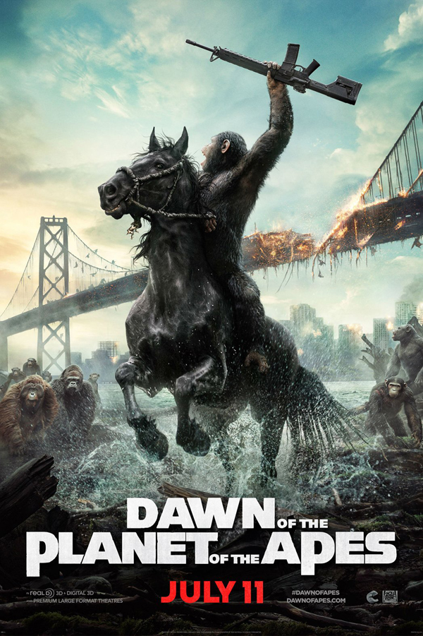 dawn of apes teaser poster - Dawn of the Planet of the Apes (Movie review)