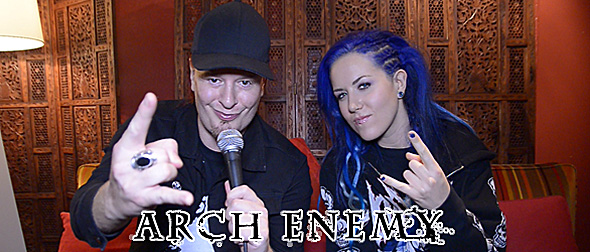 arch video 3 - Interview - Michael Amott & Alissa White-Gluz of Arch Enemy