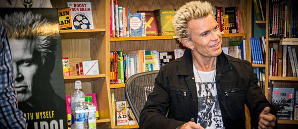 billy idol slide 2 - Billy Idol Dancing With Myself Book Signing Tempe, AZ 10-13-14