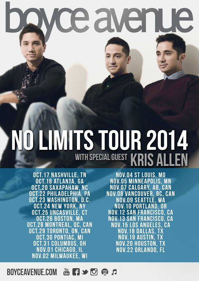 boyce avenue tour poster - Interview - Fabian Manzano of Boyce Avenue