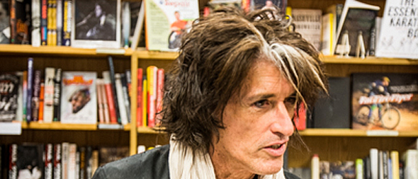 joe perry slide - Joe Perry's Rocks: My Life In and Out of Aerosmith book signing Tempe, AZ 10-18-14