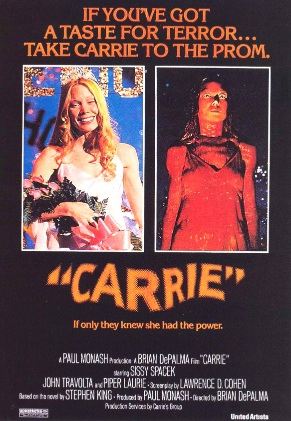 Carrie 1976 Movie Poster - This Week in Horror History - Carrie (1976)