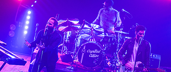 capital cities slide - Capital Cities electrify Webster Hall NYC 10-29-14