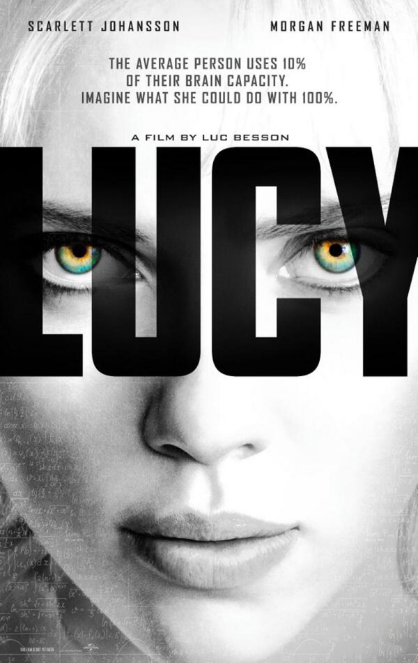 lucy scarlett johansson poster - Lucy (Movie Review)