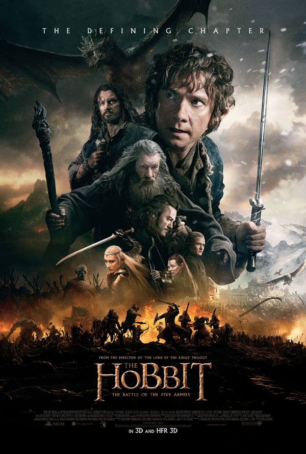 Hobbit BOTFA Intl poster edited 1 - The Hobbit: The Battle of the Five Armies (Movie Review)