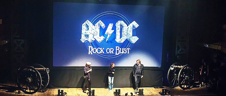 ac dc slide - AC/DC introduce Rock or Bust to NYC 11-18-14