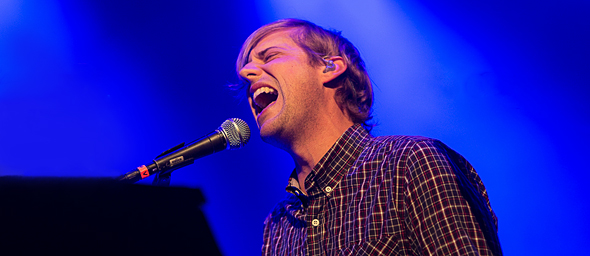 andrew slide - Andrew McMahon in the Wilderness arrives at the Sherman Theater Stroudsburg, PA 1-23-15 w/ X Ambassadors & Schematic
