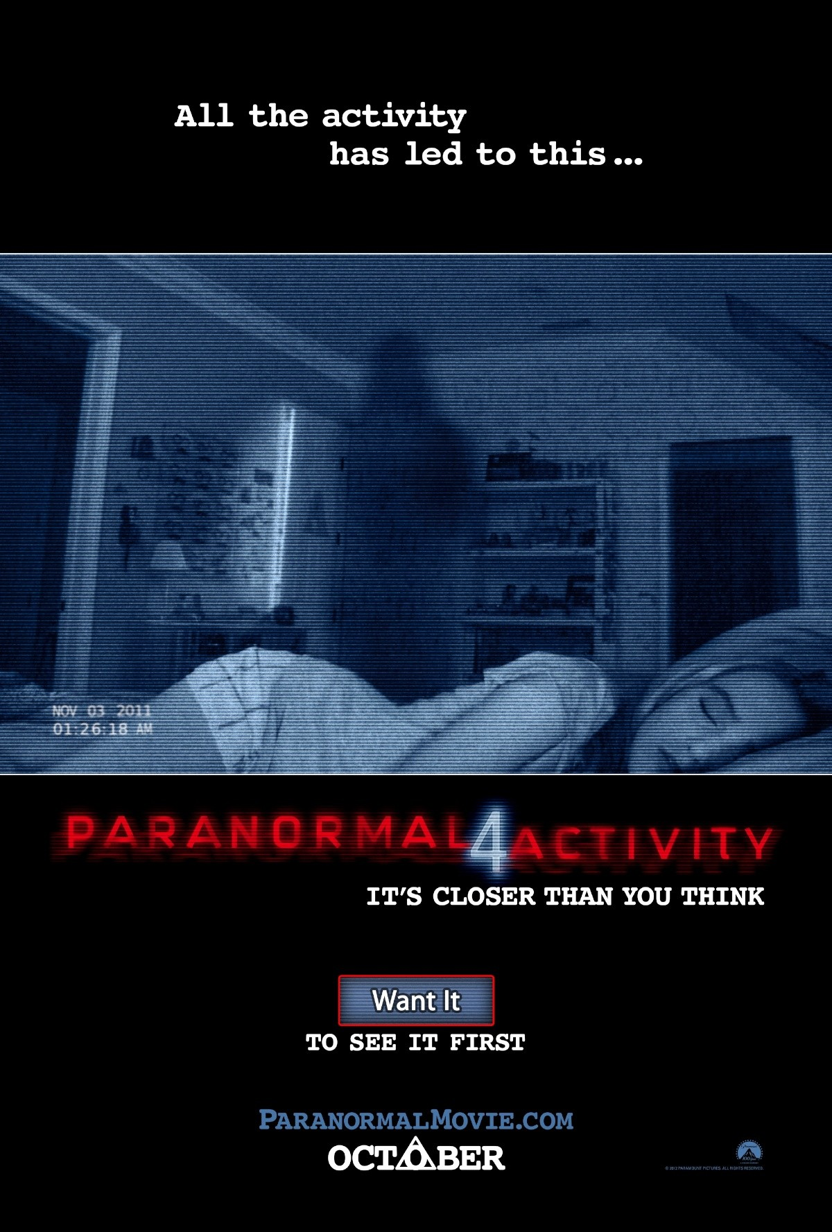 paranormal activity 4 poster01 - Favorite Horror Movies Revealed: KT Paige of Romantic Rebel