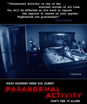 Paranormal Activity Movie Poster - Favorite Horror Movies Revealed: Justin Olmstead of Righteous Vendetta