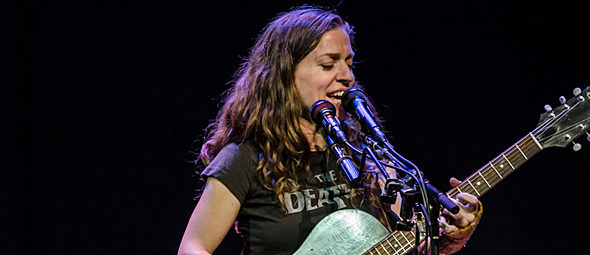 ani for slide - Ani DiFranco captures Suffolk Theater Riverhead, NY 1-24-15 w/ Anaïs Mitchell