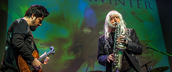 edgar winter slide - Edgar Winter blisters at The Suffolk Theater Riverhead, NY 2-7-15