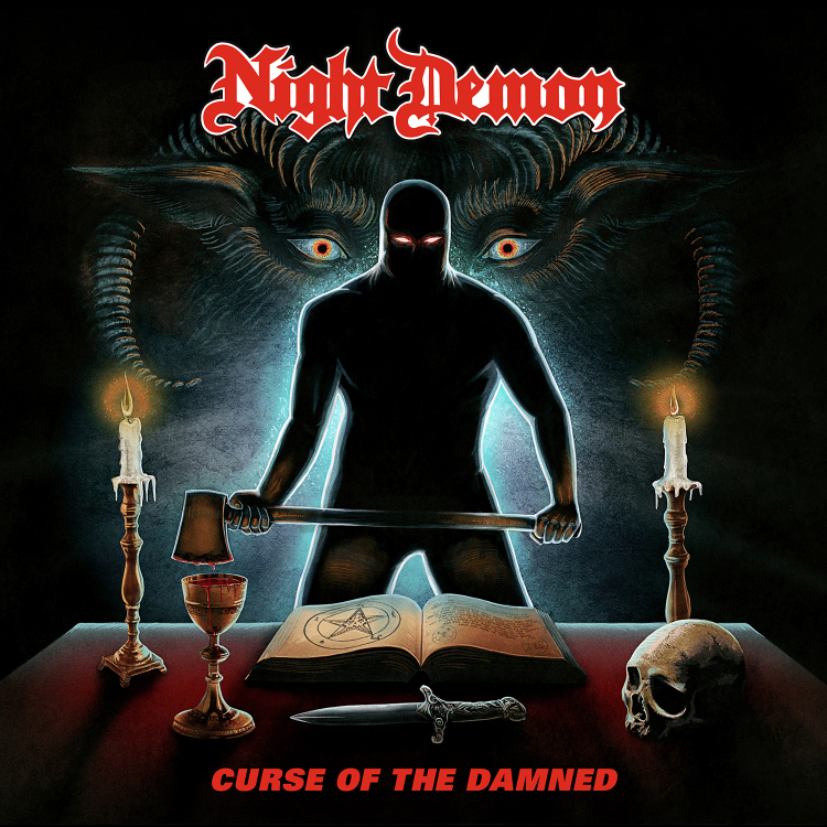 night demon cover final 1500px - Night Demon - Curse of the Damned (Album Review)