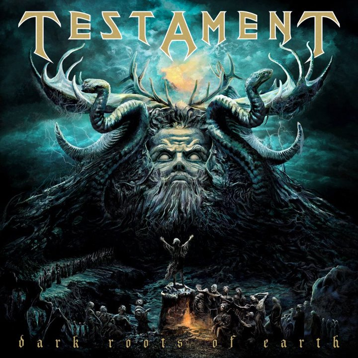 Album cover of  Dark Roots of Earth  album by Testament - Interview - Chuck Billy of Testament