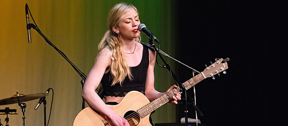 emily for slide - Emily Kinney shines bright Boulton Center Bay Shore, NY 5-1-15 w/ Dylan Gardner