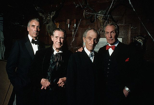 house of the long shadows group picture - Christopher Lee - An Exceptional Man, An Extraordinaire Life