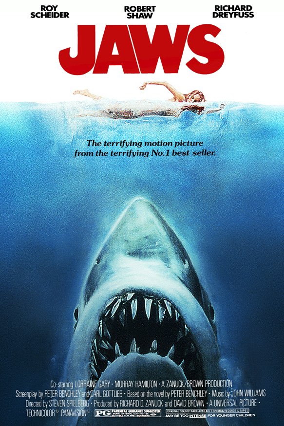 jaws movie poster - Jaws terrorizing the water 40 Years Later