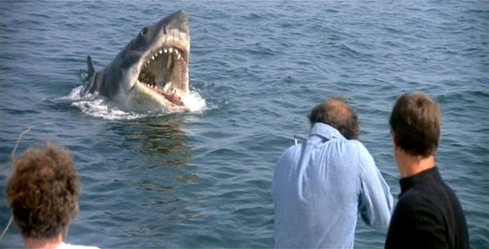jaws shot4l - Jaws terrorizing the water 40 Years Later