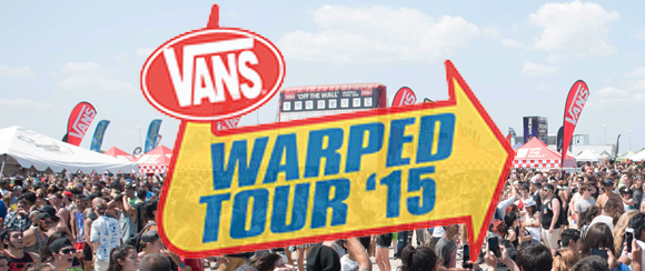WarpedTour 2015 banner - Vans Warped Tour Dominates Jones Beach, NY 7-11-15
