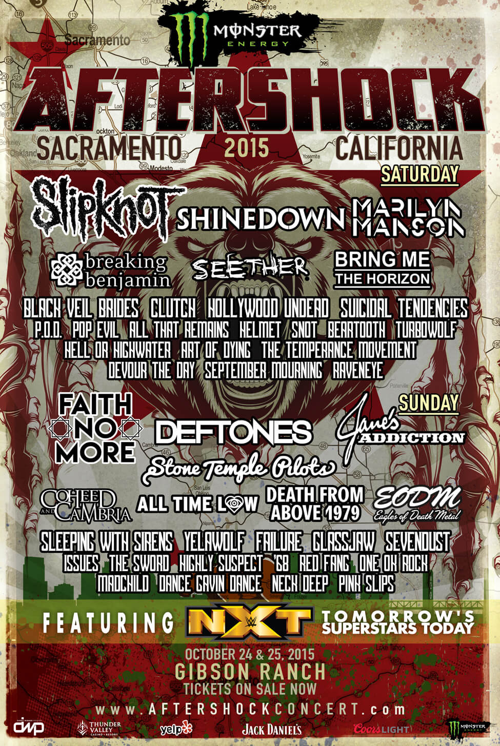 AFTERSHOCK.2015.admat .FINAL .8.31 - Monster Energy Aftershock Festival scheduled for Oct 24-25th Sacramento, CA