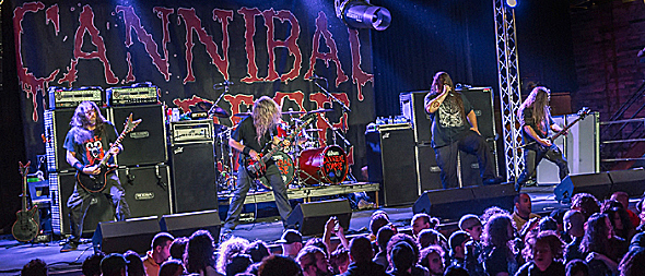 cannibal slide - Cannibal Corpse & Cattle Decapitation Crush The Emporium Patchogue, NY 10-14-15