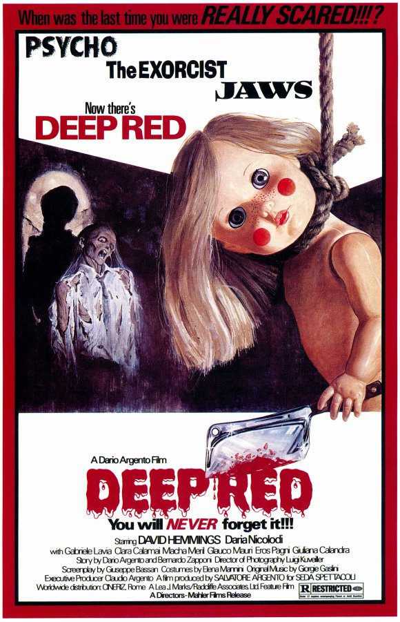 deep red movie poster 1975 1020170576 - Dario Argento's Deep Red - 40 Years Later, And Still No Color Fade