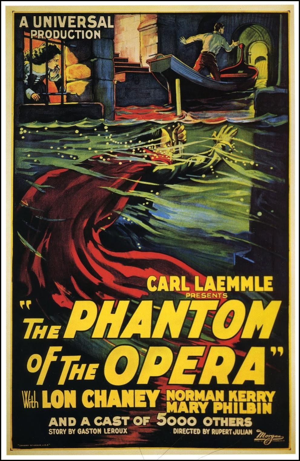 phantom poste - Beware, The Phantom of the Opera 90 Years Later